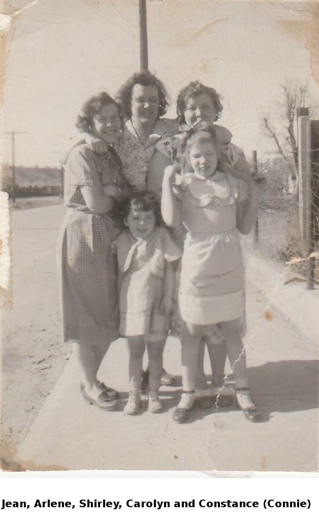 Jean, Arlene, Shirley, Carolyn and Connie