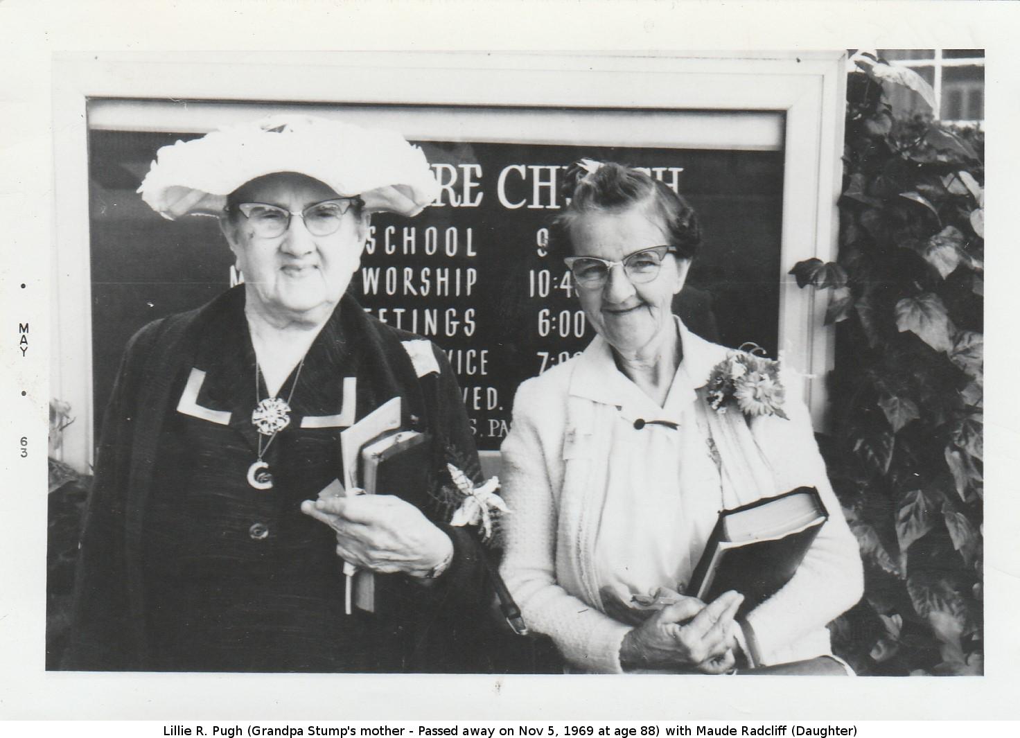 Lillie R Pugh and Maude Radcliff