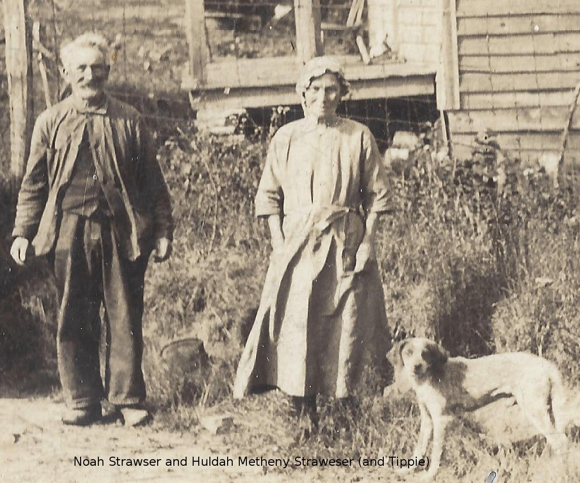 Noah and Huldah Strawser cropped