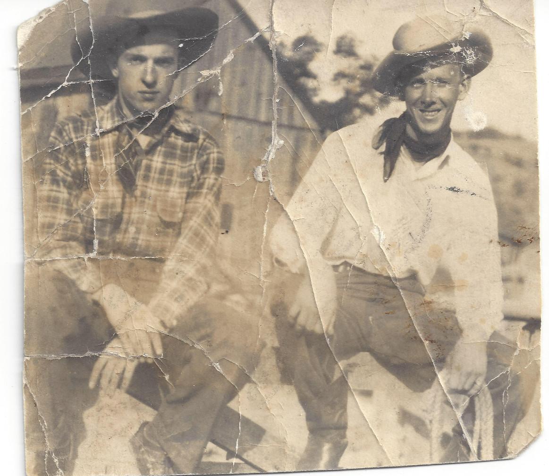 Willard Helmick (right) and friend