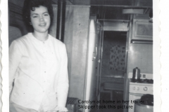 carolyn at home in her trailer