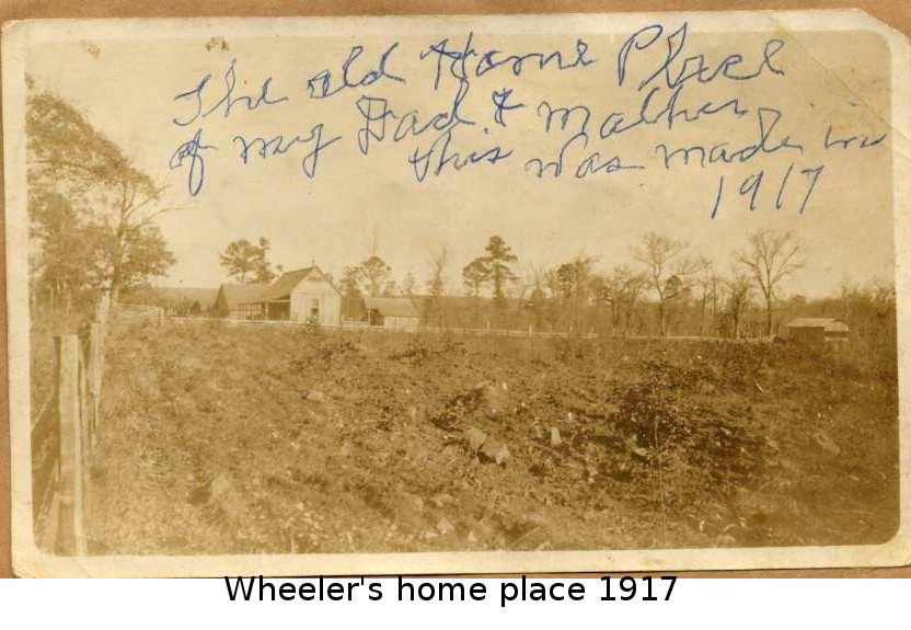 Wheeler's home place 1917